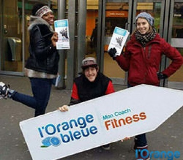 Street marketing Orange Bleue - Street Diffusion