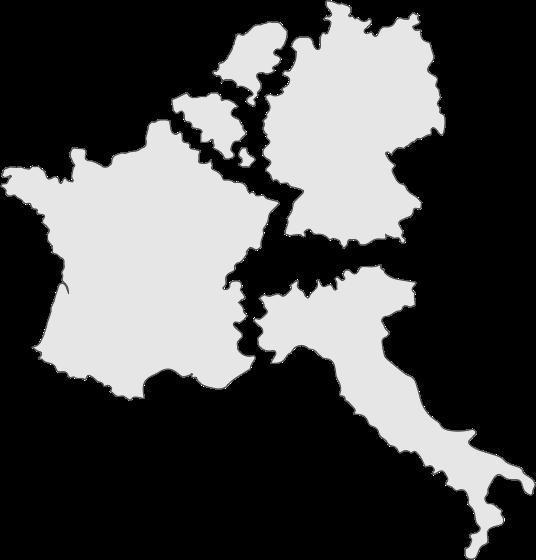Carte de France et ses voisines - Street Diffusion