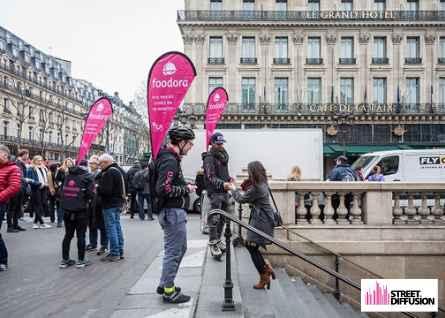 Distribution de flyers foodora - Street Diffusion