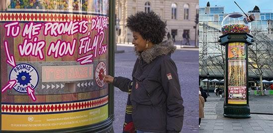 Distributeur de bonbons géant pour le film Bird of Prey - Street Diffusion